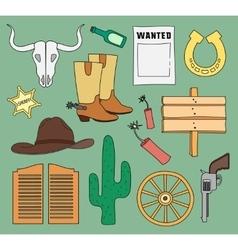 Doodle wild West vector image vector image