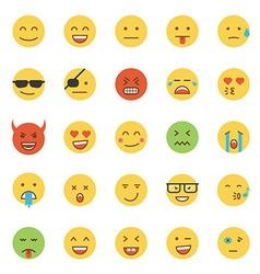 Flat design emoji round vector