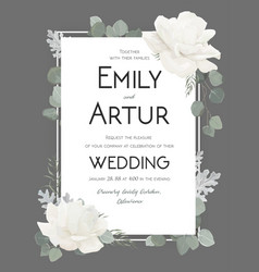Floral wedding invitation invite save the date vector