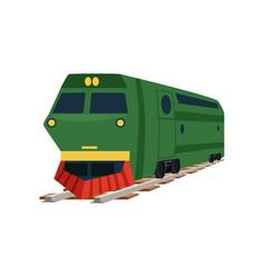 Green cargo railway train locomotive vector