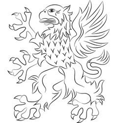griffin heraldry symbol vector image vector image