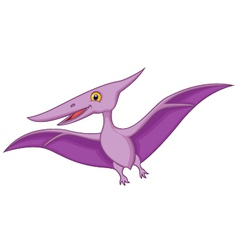 Happy pterodactyl cartoon vector image vector image