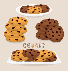 Icon logo for pile homemade cookies vector
