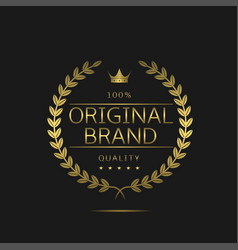 Original brand icon vector