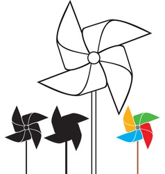 Pinwheel collection vector image vector image