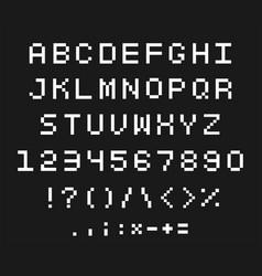pixel font set vector image