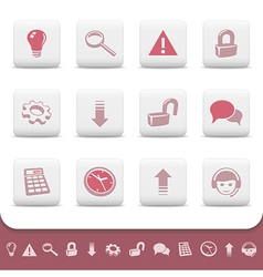 Professional web icons buttons vector image