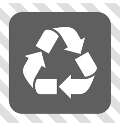 Recycle Rounded Square Button vector image