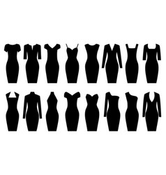 set of black dresses vector image