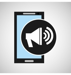 smartphone social media speaker marketing vector image