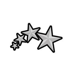 Star medal shape vector