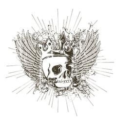 T-shirt design with skull vector