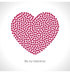 Valentine heart shape filled with red vector image vector image