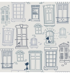 with windows seamless pattern vector image