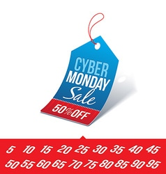 Cyber monday sale price tag vector