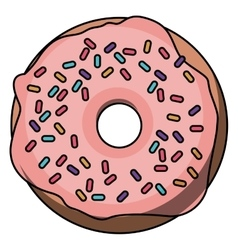 Donut cartoon food design vector