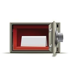 Safe deposit blank vector