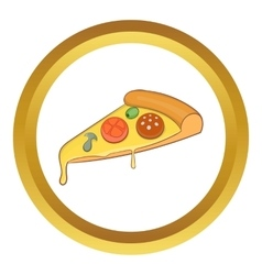 Pizza slice icon vector