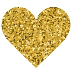 Glitter valentines day love heart on a white vector