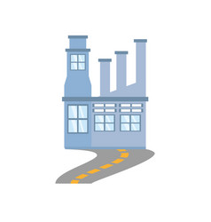building factory structure road vector image