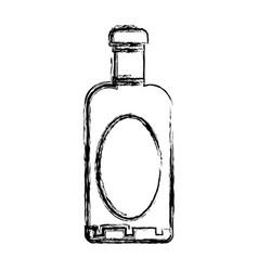 Figure wine bottle liquor to special celebration vector