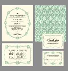 Set classic invitation swirls vector