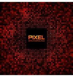 Abstract pixel red bright glow background vector