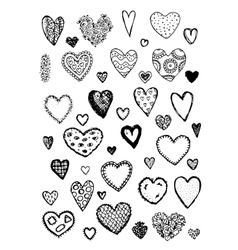 Set of valentine hearts for your design vector