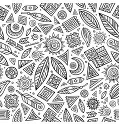 Tribal native ethnic seamless pattern vector