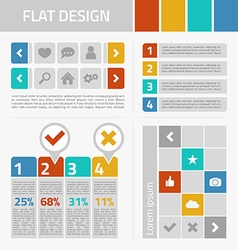 Flat design kit vector image