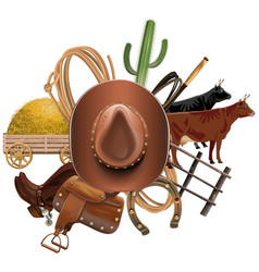Cowboy Ranch Concept vector image