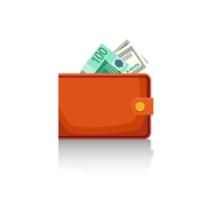 Wallet with banknotes vector image