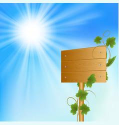 Blank wood billboard vector image