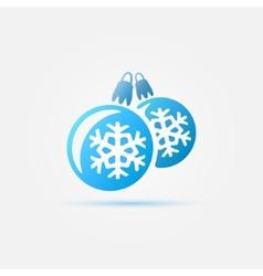 Blue christmas ball icon vector image vector image