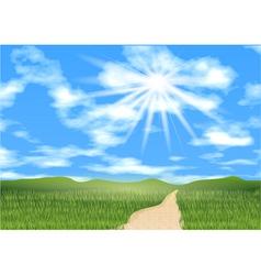 blue sky ahead vector image