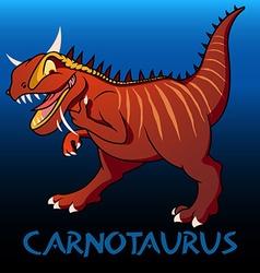 Carnotaurus cute character dinosaurs vector
