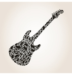Cat a guitar vector image