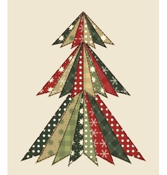 Christmas tree for scrapbooking 3 vector image vector image