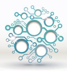 circuit board cloud vector image