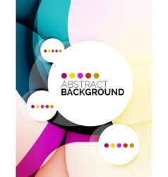 Colorful fresh modern abstract background vector image