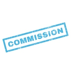 Commission rubber stamp vector