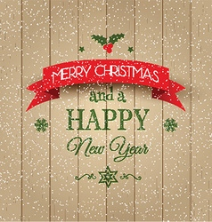 Decorative Christmas and New Year background vector image
