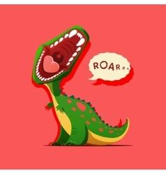 Dinosaur is roaring vector