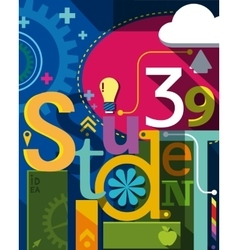 Education Banner eps10 vector image vector image