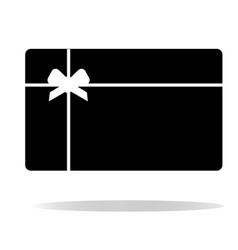 Gift card icon on white background gift card vector