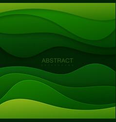 green paper topographic relief vector image vector image