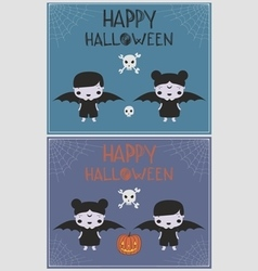 Halloween vampire costume children p vector