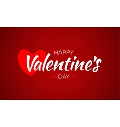Happy valentines day lettering heart and arrow vector
