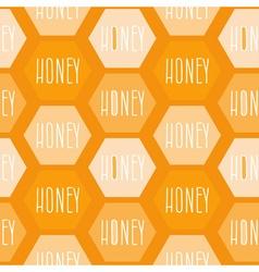 Honey patterned background vector