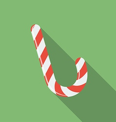 Icon of christmas candy flat style vector
